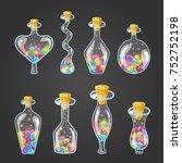 big set of bottle elixir with...