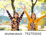 having fun outside in the late... | Shutterstock . vector #752753242