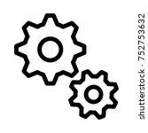 setting line icon | Shutterstock .eps vector #752753632