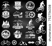 set of mountain biking clubs... | Shutterstock .eps vector #752756338