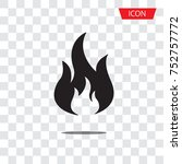 fire vector icon isolated on...   Shutterstock .eps vector #752757772