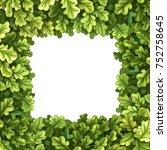 frame from oak tree crown... | Shutterstock .eps vector #752758645