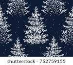 beautiful hand drawn seamless... | Shutterstock .eps vector #752759155