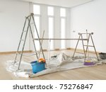Scaffold In A White Room With...