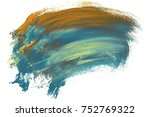colorful oil art stroke design... | Shutterstock . vector #752769322