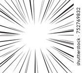 comic speed radial background | Shutterstock .eps vector #752769832
