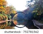 autumn rakotzbrucke in germany | Shutterstock . vector #752781562