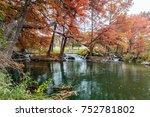 guadalupe river at ingram texas | Shutterstock . vector #752781802