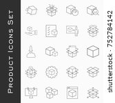simple set of abstract product... | Shutterstock .eps vector #752784142