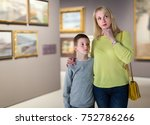 ordinary mom and son exploring... | Shutterstock . vector #752786266