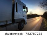 truck transportation on the... | Shutterstock . vector #752787238