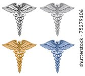 caduceus medical symbol is an...