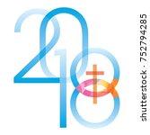 jesus fish symbol new year. ... | Shutterstock .eps vector #752794285
