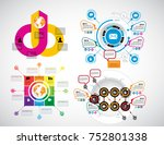 business infographics layout | Shutterstock .eps vector #752801338