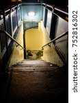 looking down into a subway... | Shutterstock . vector #752816302