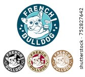 bulldog frances    illustration ... | Shutterstock .eps vector #752827642