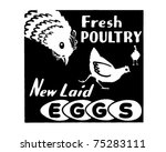 Fresh Poultry   Retro Ad Art...