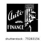 auto finance   retro ad art... | Shutterstock .eps vector #75283156