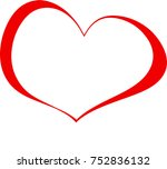 red heart valentine love logo
