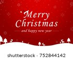 merry christmas vector text... | Shutterstock .eps vector #752844142
