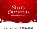 merry christmas vector text...   Shutterstock .eps vector #752844142