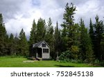 off grid tiny house in the... | Shutterstock . vector #752845138