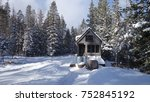 off grid tiny house in the... | Shutterstock . vector #752845192