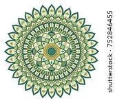 ethnic ornamental mandala.... | Shutterstock .eps vector #752846455