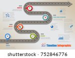 business road map timeline... | Shutterstock .eps vector #752846776