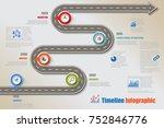 business road map timeline... | Shutterstock .eps vector #752846776