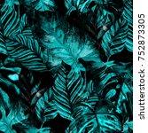 watercolor seamless pattern... | Shutterstock . vector #752873305