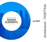 design element for corporate... | Shutterstock .eps vector #752877526