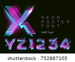 Vector Neon Type. Shining...