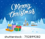 christmas gifts from santa claus | Shutterstock .eps vector #752899282