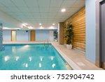 indoor swimming pool in hotel... | Shutterstock . vector #752904742