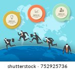 infographic banner template for ... | Shutterstock .eps vector #752925736
