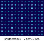 abstract geometric background... | Shutterstock .eps vector #752932426