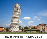 leaning tower of pisa  italy | Shutterstock . vector #752933665