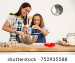 shot of a mother and daughter... | Shutterstock . vector #752935588