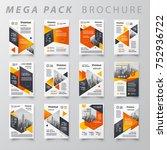 mega pack brochure design... | Shutterstock .eps vector #752936722