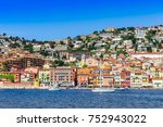 Small photo of Villefranche-sur-Mer, FRANCE- APRIL 15: Panoramic view of the city on April 15, 2016 in Villefranche-sur-Mer. FRANCE