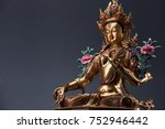 green tara   the embodiment of... | Shutterstock . vector #752946442