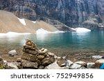 Small photo of Stone Pillar Abreast Glacial Lake