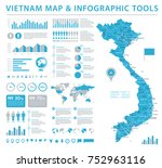 vietnam map   detailed info... | Shutterstock .eps vector #752963116
