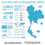 thailand map   detailed info... | Shutterstock .eps vector #752963245