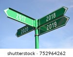 2018   signpost  roadsign | Shutterstock . vector #752964262