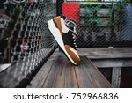 sneakers side view urban... | Shutterstock . vector #752966836