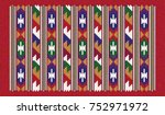 colorful oriental mosaic kilim... | Shutterstock .eps vector #752971972