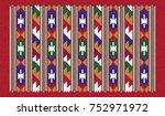 colorful oriental mosaic kilim... | Shutterstock .eps vector #752971972