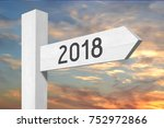 2018   signpost  roadsign | Shutterstock . vector #752972866